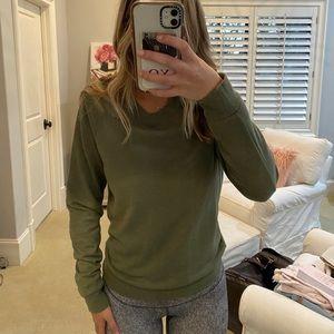 Green sweater !!